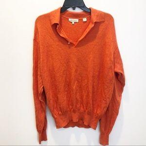 Peter Millar orange sweater size large